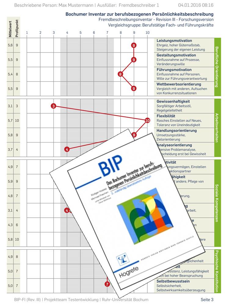 Bochumer Inventar zur berufsbezogenen Persönlichkeitsbeschreibung (BIP)